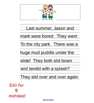 Primary story writing