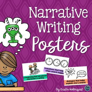 Narrative/Story Writing Element Posters