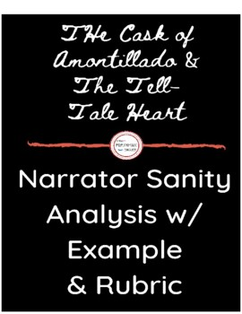 """Narrator Sanity Literary Analysis- """"Cask"""" and """"Tell-Tale Heart"""""""