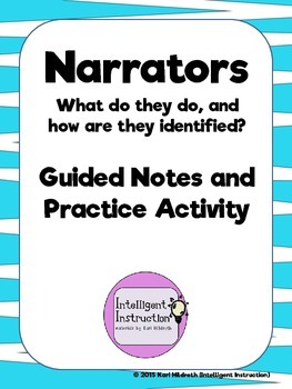 Narrators: Guided Notes on Basic Types and Identification Strategies