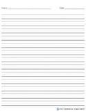 Narrow Rule Handwriting Paper