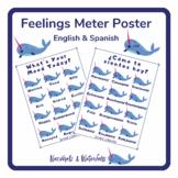 Narwhal Feelings Chart- English & Spanish