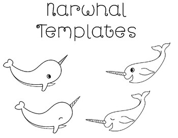 Narwhal Templates Narwhal Coloring Page Narwhal Bulletin Board Narwhal Unique