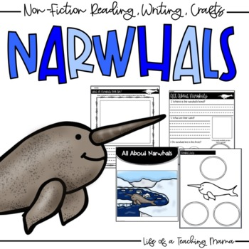 Arctic Animals:Narwhals - Nonfiction Book, Reading & Writing, + Craft