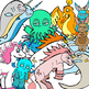 Narwhals vs. Unicorns and Cthulhu Clip-Art! 33 pc. Set! BW/Color