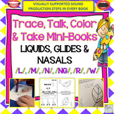 Nasals, Glides, Liquids: Trace, Talk & Take Mini-Books (NO PREP)