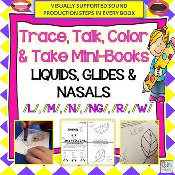 Nasals, Glides, Liquids: Trace, Talk & Take Mini-Books (NO PREP)