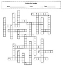 NASA's Five Decades Crossword Puzzle with Keys