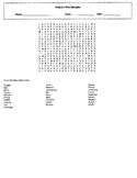 NASA's Five Decades Wordsearch with Key