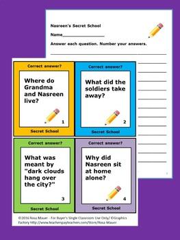 Nasreen's Secret School Comprehension Questions