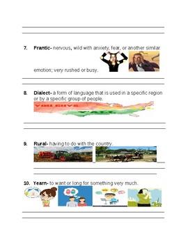 Nasreen's Secret School Vocabulary