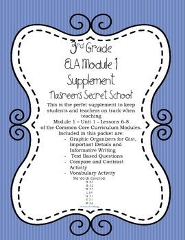 """""""Nasreen's Secret School"""" 3rd Grade ELA Common Core Supplement"""