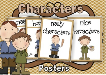 Nasty & Nice Characters Posters
