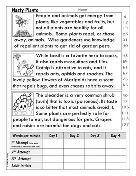 Nasty Plants - Nonfiction Plant Fluency