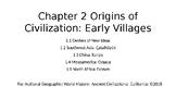 Nat Geo Ancient Civ. Ch 2 Lessons 1.1- 1.5