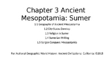 Nat Geo Ancient Civilizations Ch 3 Les 1.1-1.5