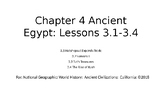 Nat Geo Ancient Egypt Ch 4 Lessons 3.1-3.4