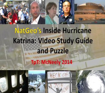 "Nat Geo's ""Inside Hurricane Katrina"" Video Study Guide and Puzzles"