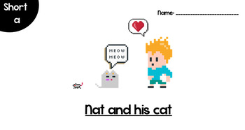 Nat and his cat ( practice reading short vowel a)