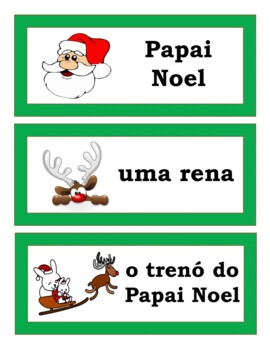 Natal: Portuguese Christmas GAMES AND WORD WALL (2nd to 12th)