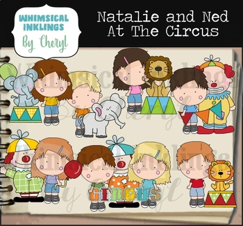 Natalie And Ned At The Circus Clipart Collection