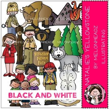 Natalie's Yellowstoneby Melonheadz BLACK AND WHITE