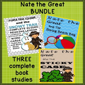 Nate the Great The Boring Beach Bag The Sticky Case The Snowy Trail Bundle