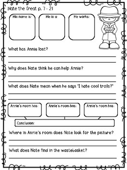 Nate the Great: Comprehension Guide