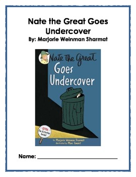 Reading Guide: Nate the Great Goes Undercover