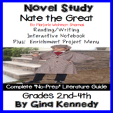Nate the Great Novel Study and Project Menu; Plus Digital Option