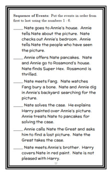Nate the Great (Marjorie Weinman Sharmat) Reading Comprehension / Response Guide