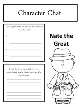 Nate the Great Stalks Stupidweed Response Notebook