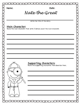 Nate the Great Story Mapping