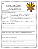 Nate the Great Talks Turkey Comprehension Question Set
