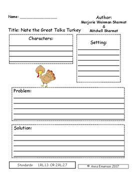 Nate the Great Talks Turkey Comprehension Questions