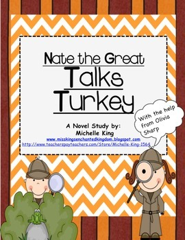 Nate the Great Talks Turkey Reading Response Packet