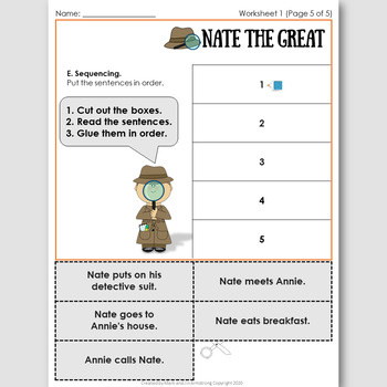 Nate the Great, an English Novel Study for French Speakers