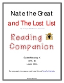 Nate the Great and The Lost List - Reading Companion