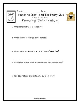 Nate the Great and The Phony Clue - Reading Companion
