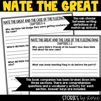 Nate the Great and the Case of the Fleeing Fang