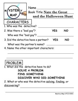 Nate the Great and the Halloween Hunt Literature Unit