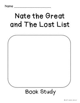 Nate the Great and the Lost List - Book Study
