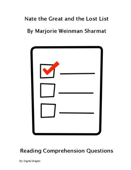 Nate the Great and the Lost List Reading Comprehension Questions