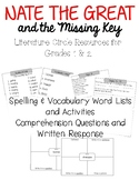 Nate the Great & the Missing Key– Word Lists, Comprehension & Writing Resources