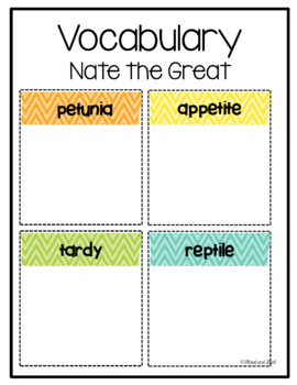 Nate the Great and the Tardy Tortoise Guided Reading Pack