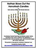 Nathan Blows Out the Hanukkah Candles by Tami Lehman-Wilzig- Vocabulary Work