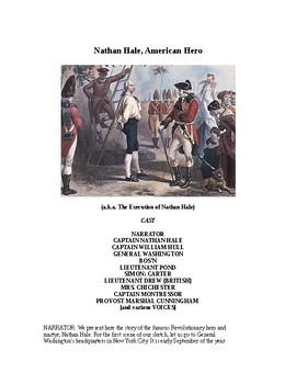 Drama - Nathan Hale, American Hero - Readers Theater and Radio Script