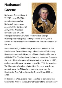 Nathanael Greene Handout