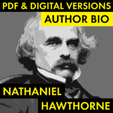Nathaniel Hawthorne Author Study Worksheet, Easy Biography
