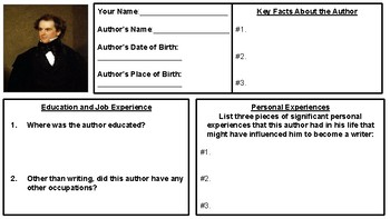Nathaniel Hawthorne Biography Assignment